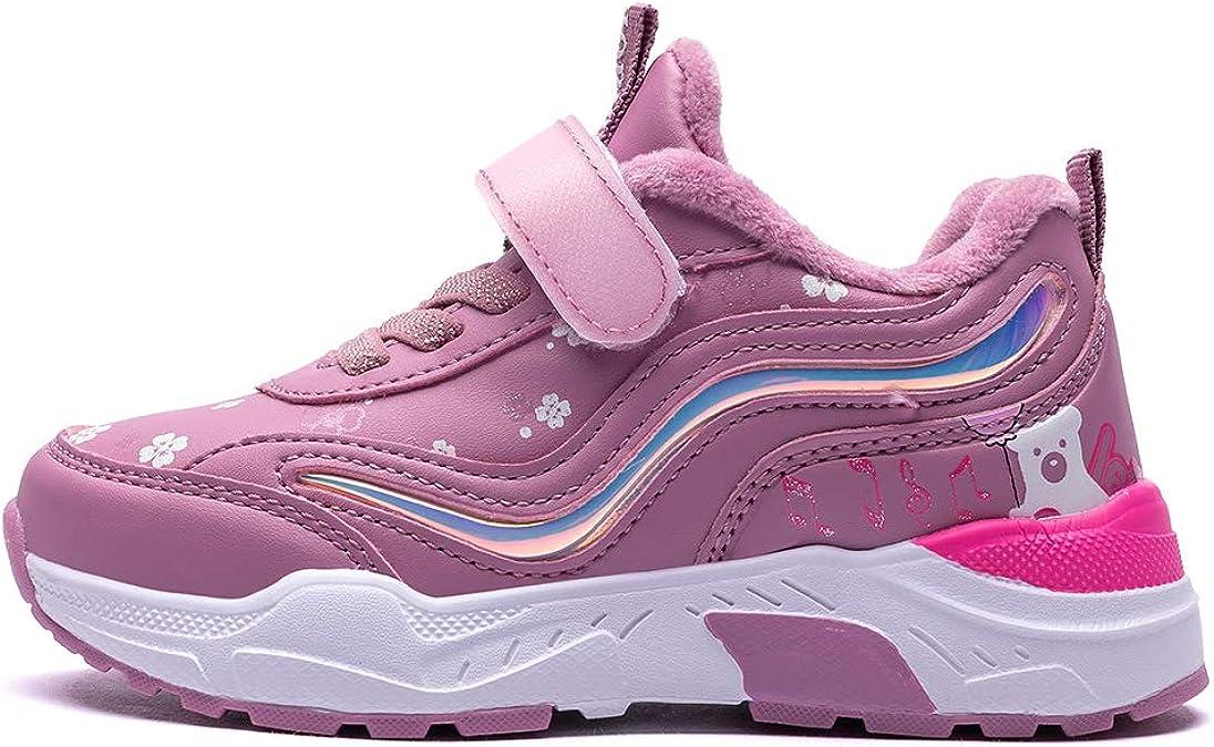 AONEGOLD Chaussure Hiver Gar/çon Fille Botte de Neige Enfants Baskets Doublure Chaud Fourrure Sneakers