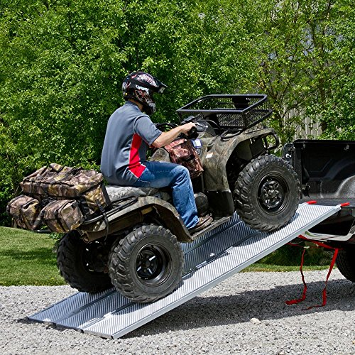 94x54 Solid Surface Tri-Fold ATV Pickup Truck Ramp by Black Widow (Image #1)