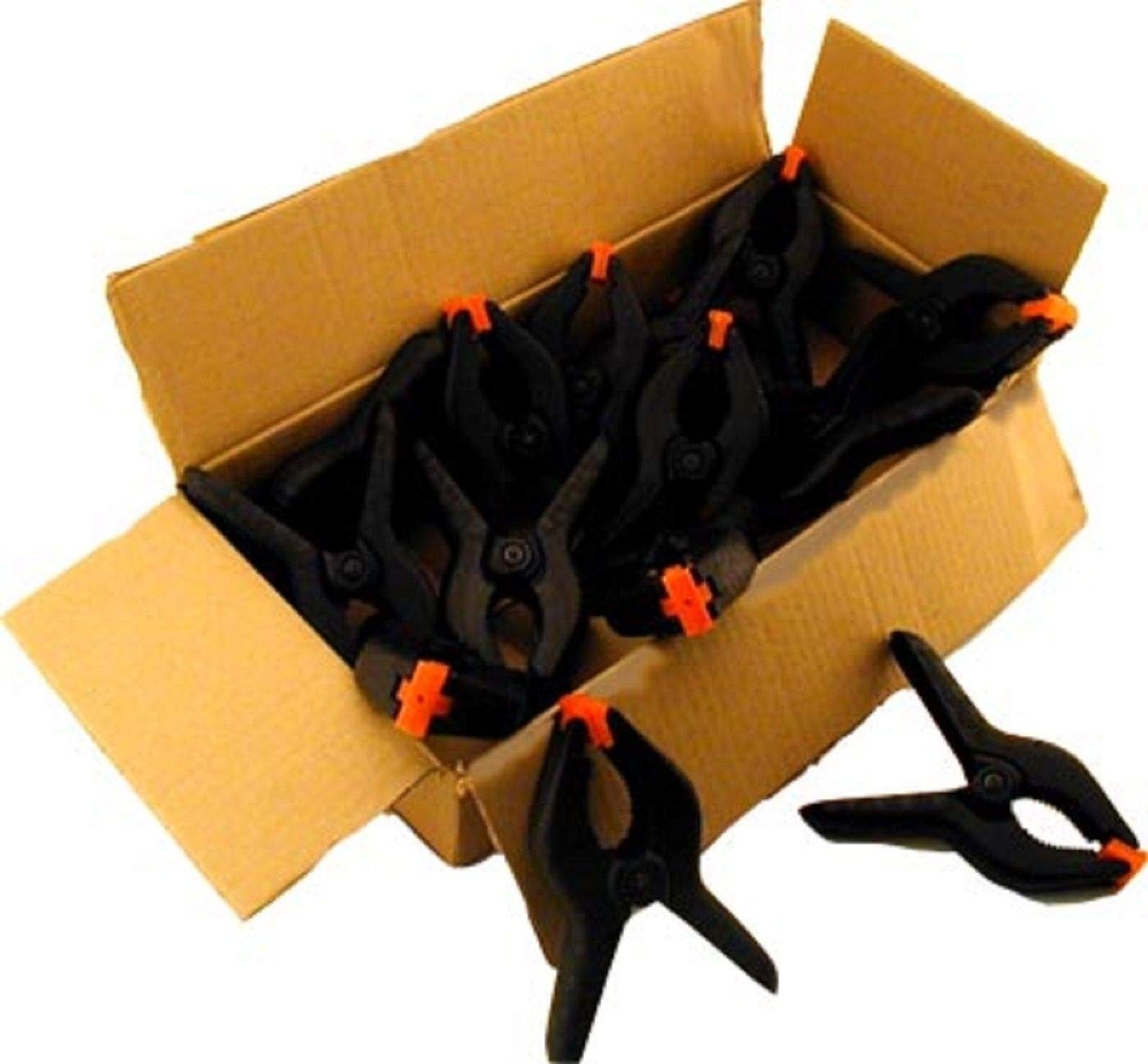 Black Nylon Grip Clips Clay Roberts Spring Clamps Pack of 8 Textured Handles