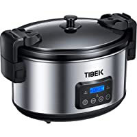 Slow Cooker, 8.5-Quart Programmable Slow Cooker with Digital Timer Up TO 20 Hours, Sealing and Locking Lid, Dishwasher Safe Non-Stick Stoneware Crock Pot, Auto Shut Off