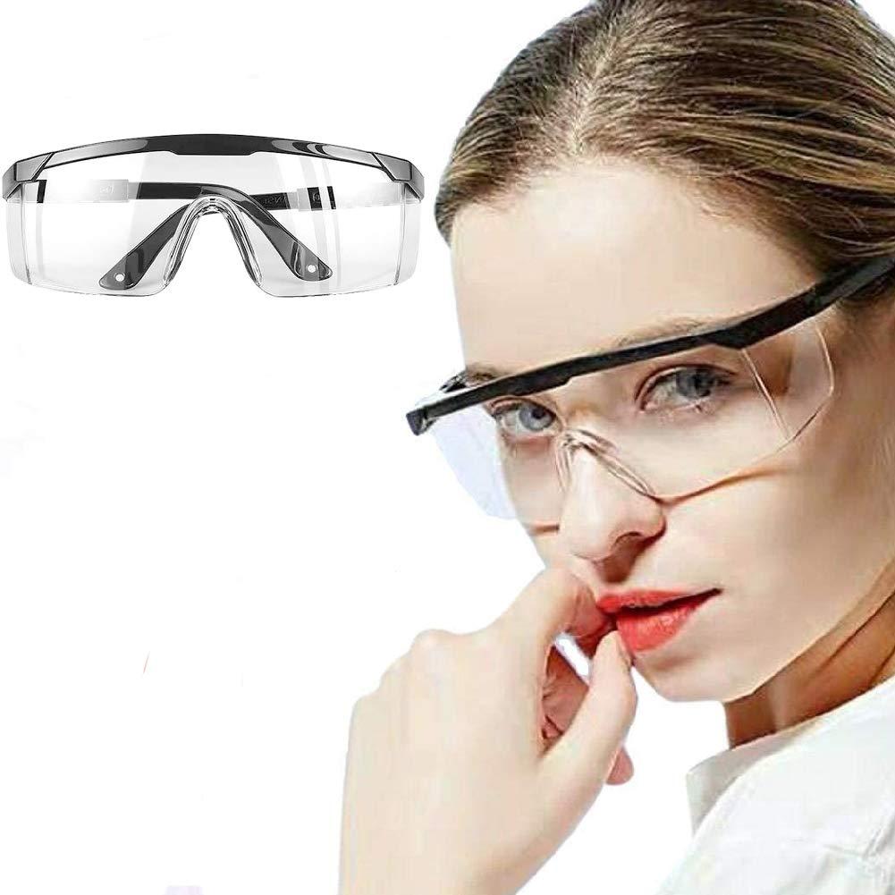 Occhiali Protettivi Clear Occhiali antiappannamento per uso Industriale Occhiali Antipolvere Agricolo o di Laboratorio Occhiali Protettivi da Lavoro
