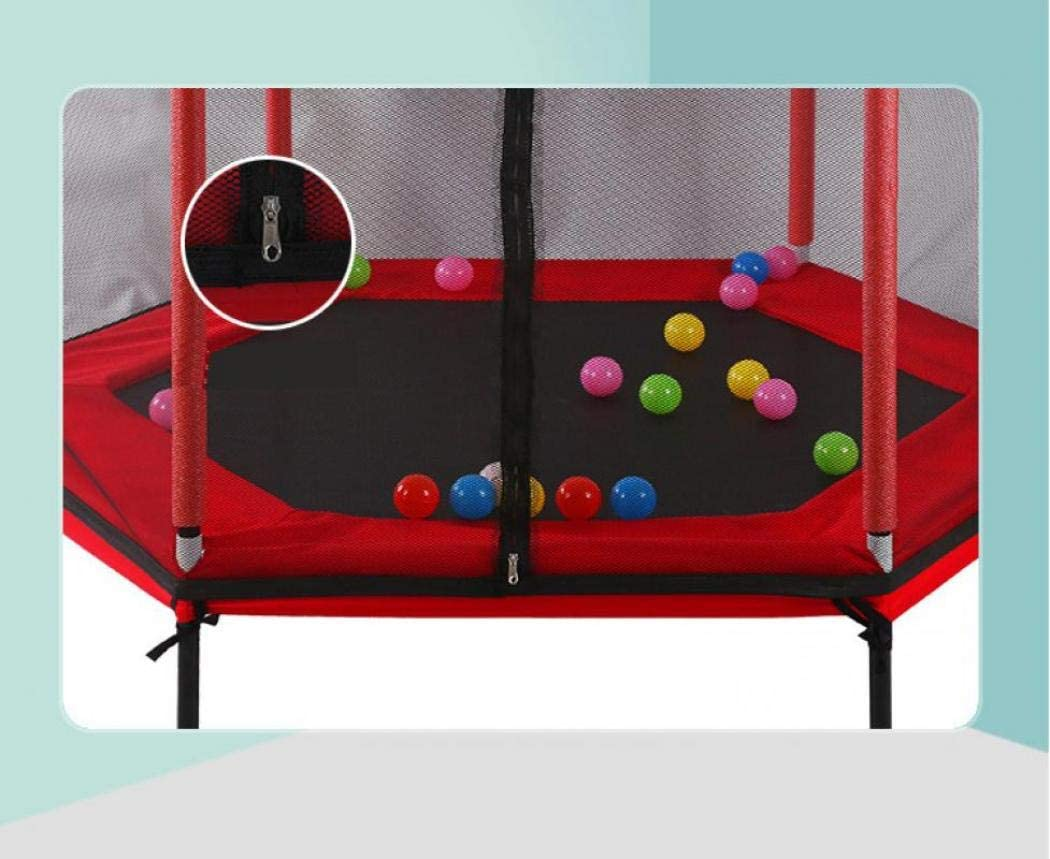 Trampolines Kids Trampoline with Enclosure Net Jumping Mat and Spring Cover Padding Trampoline Jump Indoor Outdoor Trampoline for Family School Entertainment