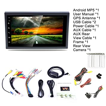 Coche Mp5, DC12V Ultra-ligero Ultra-ligero 1080P 7 pulgadas 2DIN Android 8.1