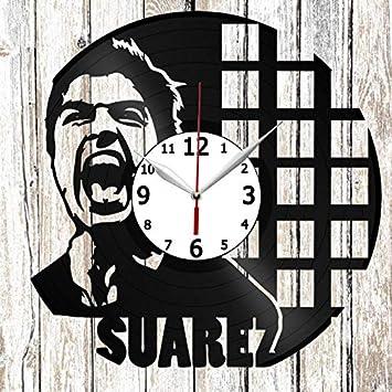 Clock Town Luis Suárez - Reloj de Pared, diseño de Vinilo, Color Negro: Amazon.es: Hogar