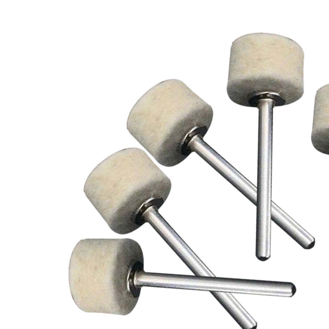2Pcs 3.2 mm Shanks for Rotary Tool Accessories 13mm 50Pcs Wool Felt Polishing Buffing Wheel Grinding Polishing Pad