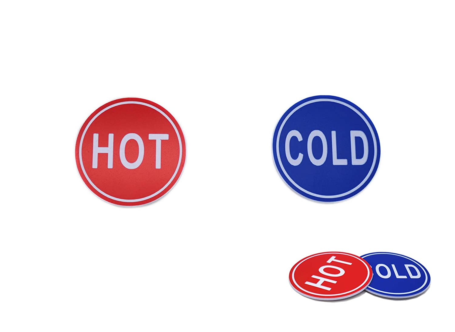 ABS Self Stick Cold Water Label Hot Water Label Hot Label Cold Label 1 Pair