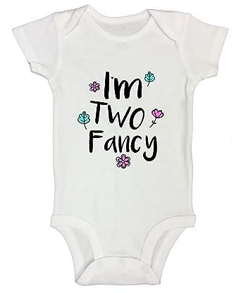 "8887d0e81bec8 Girls Flower 2 Year Old Birthday Gift - Toddler Shirt ""I m Two Fancy"" Funny  Threadz Kids"
