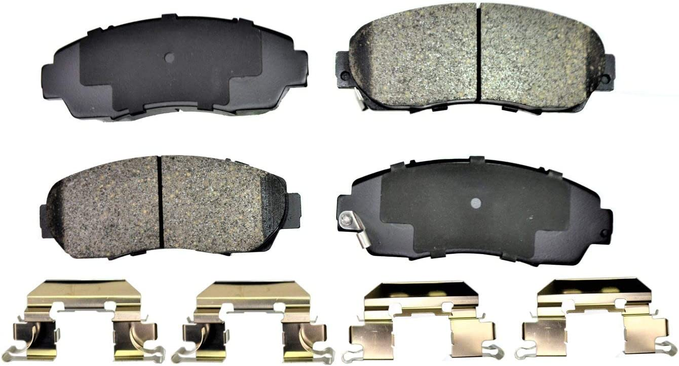 Front PT Auto Warehouse PT1089 Ceramic Disc Brake Pad Set
