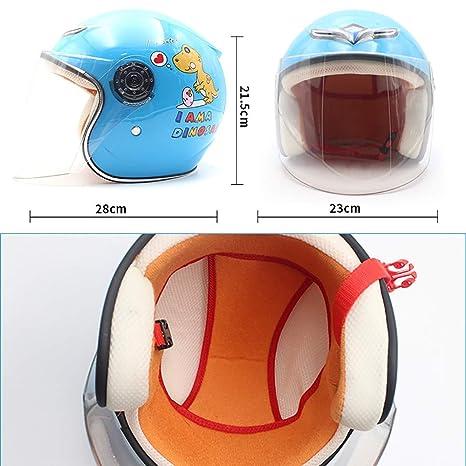 YAJAN-helmet Moto Helmets,Scooter-Helm,Jet-Helm,bequem atmungsaktiv 47-53 cm Motorradhelm f/ür Kinder Passend f/ür Motorrad Harley Batterie Auto M/änner und Frauen Baby