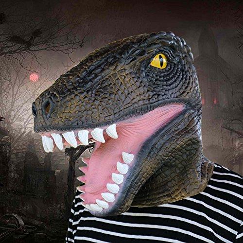 LianLe Halloween Prop Dinosaurio Máscara Látex Animal Fiesta Cara Máscara Halloween Disfrace: Amazon.es: Hogar