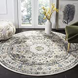 Safavieh Evoke Collection EVK220B Vintage Oriental Grey and Gold Round Area Rug (5'1″ Diameter) Review