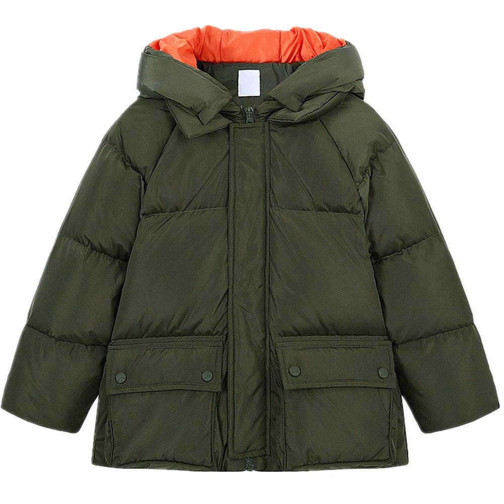 QJH New Pattern Boys Girls Fashion Down Coat Childrens' Puffer Hoody Jacket
