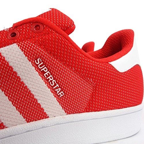 adidas Adidas Superstar - Zapatillas para hombre rojo y blanco