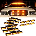 DT MOTO™ Amber 54x LED Service Trucks Deck Grille Dash Warning Lights - 1 set