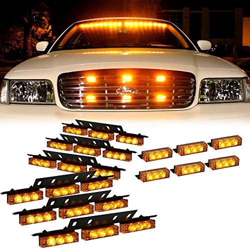 DT MOTO™ Amber 54x LED Service Trucks Deck Grille Dash Warning Lights - 1 set