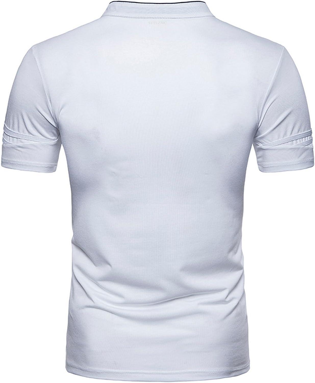 STTLZMC Polo para Hombre Manga Corta Collar Camisa Golf de Tenis ...