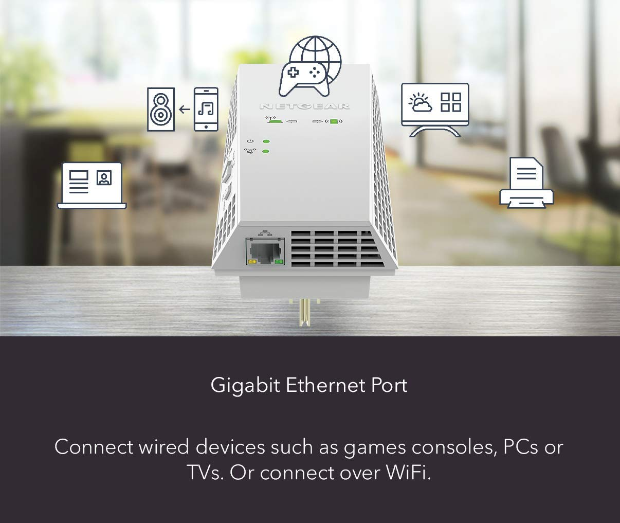 Works with Any WiFi Router EX6400 One WiFi Name Seamless Roaming ...