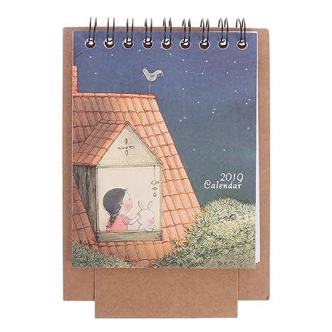 GROOMY 2019 Mini Desktop Paper Calendar Daily DIY ...