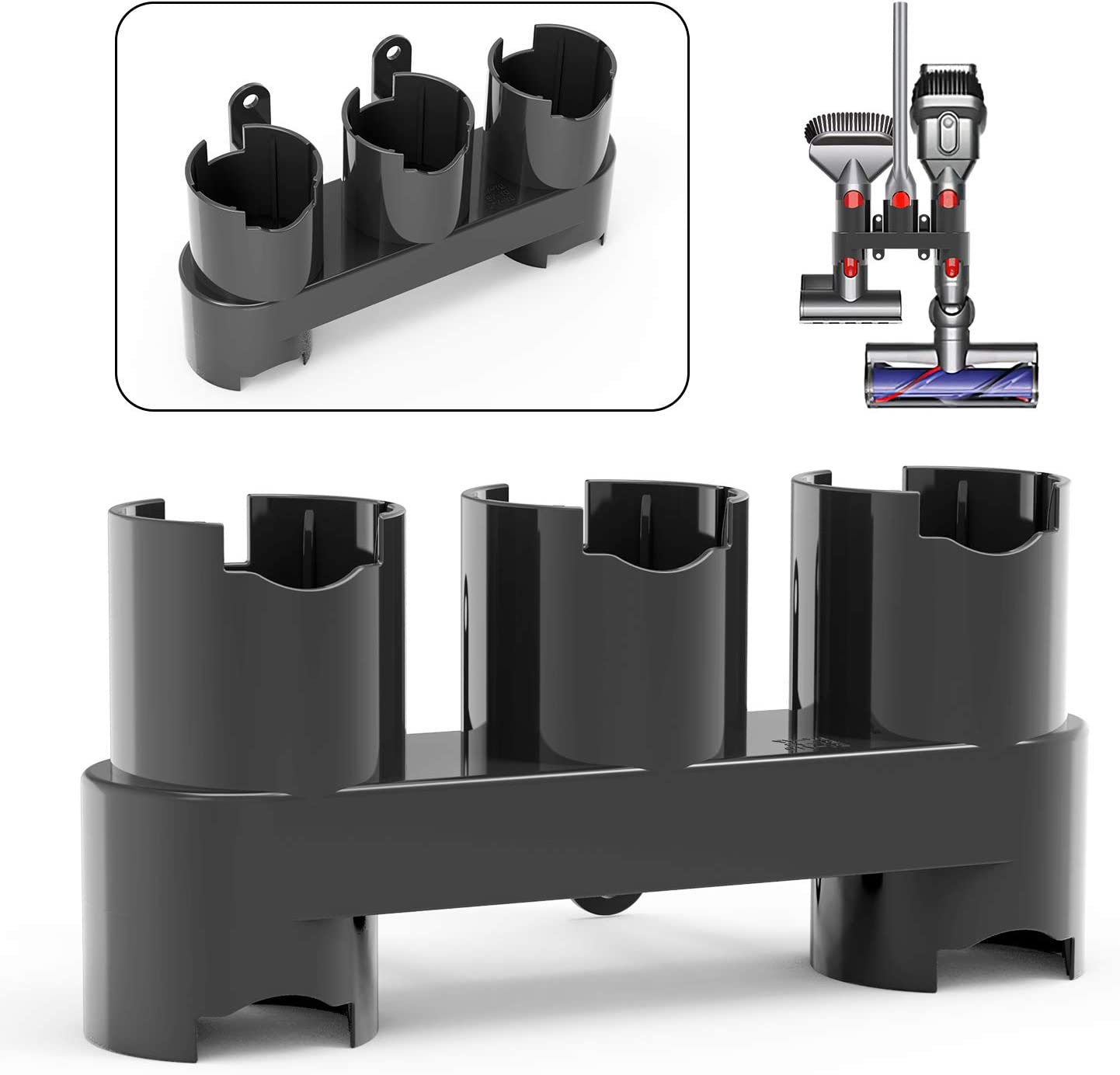 JIRVY Station Accessory Organizer Holders Wall Mount Accessories Compatible with Dyson Cordless Stick Vacuum CleanerV10, V8, V7 Grey(1 Pack)