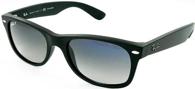 Ray-Ban 2132 Gafas de Sol, Matte Black, 55 para Hombre