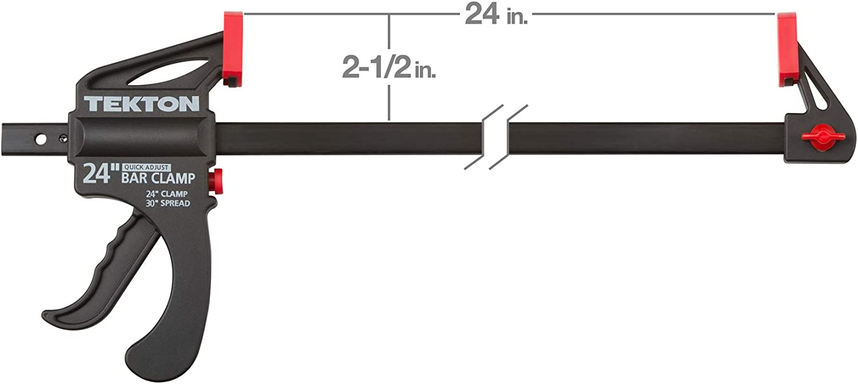 TEKTON 36 Inch Ratchet Bar Clamp 42 Inch Spreader Set 2-Piece CLP51536