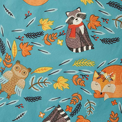 Harvest Tablecloth - Vinyl Tablecloth 60x84 Harvest Fox with Friends Theme