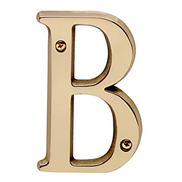 Brass House Numbers B