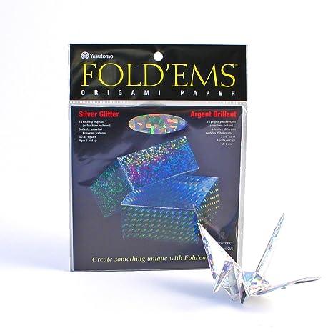 Amazon.com: Yasutomo Fold ems de papel para Origami Plata ...