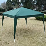 Green 10'X10' EZ POP UP Canopy Tent Gazebo Wedding Party Shelter Carry Bag