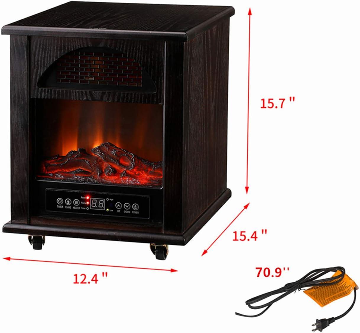 KOOLWOOM Portable Electrci Space Heater Infrared Zone Heating ...