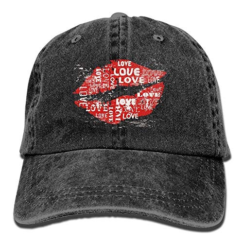 J.McKain Red Lips Womens Comfortable Breathable Cowboy Hat