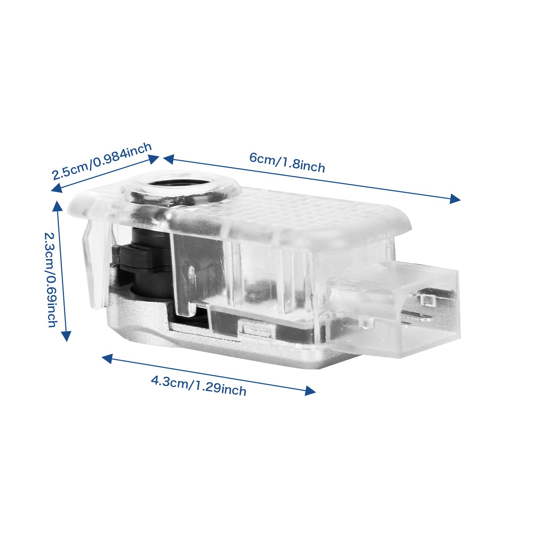 2 set FlexDin Kit luci LED sportello Logo 3D proiettore auto portiere 5wat per Benz Classe A B C E M GL 4MATIC Senza Modifi