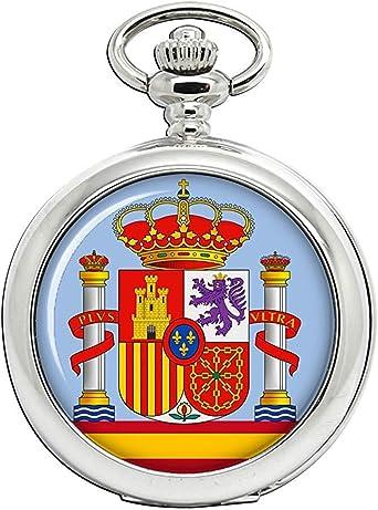 España Escudo de Armas Reloj Bolsillo Hunter Completo: Amazon.es: Relojes