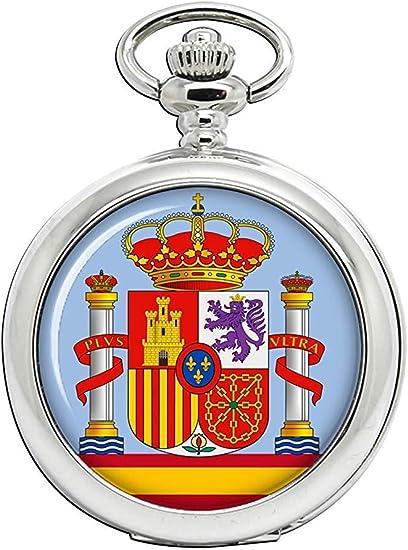 España Escudo de Armas Reloj Bolsillo Hunter Completo: Amazon.es ...