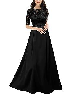 Miusol Vintage Encaje Fiesta Noche Largo Vestido para Mujer ...