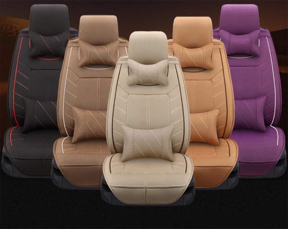 カーカーシートプロテクター用シートカバー カーアクセサリーラージクッションカバーデラックスエディション(13セット)一般的なカークッションリネン四季5色選択 カーシートクッションカーシートマット (色 : #30)