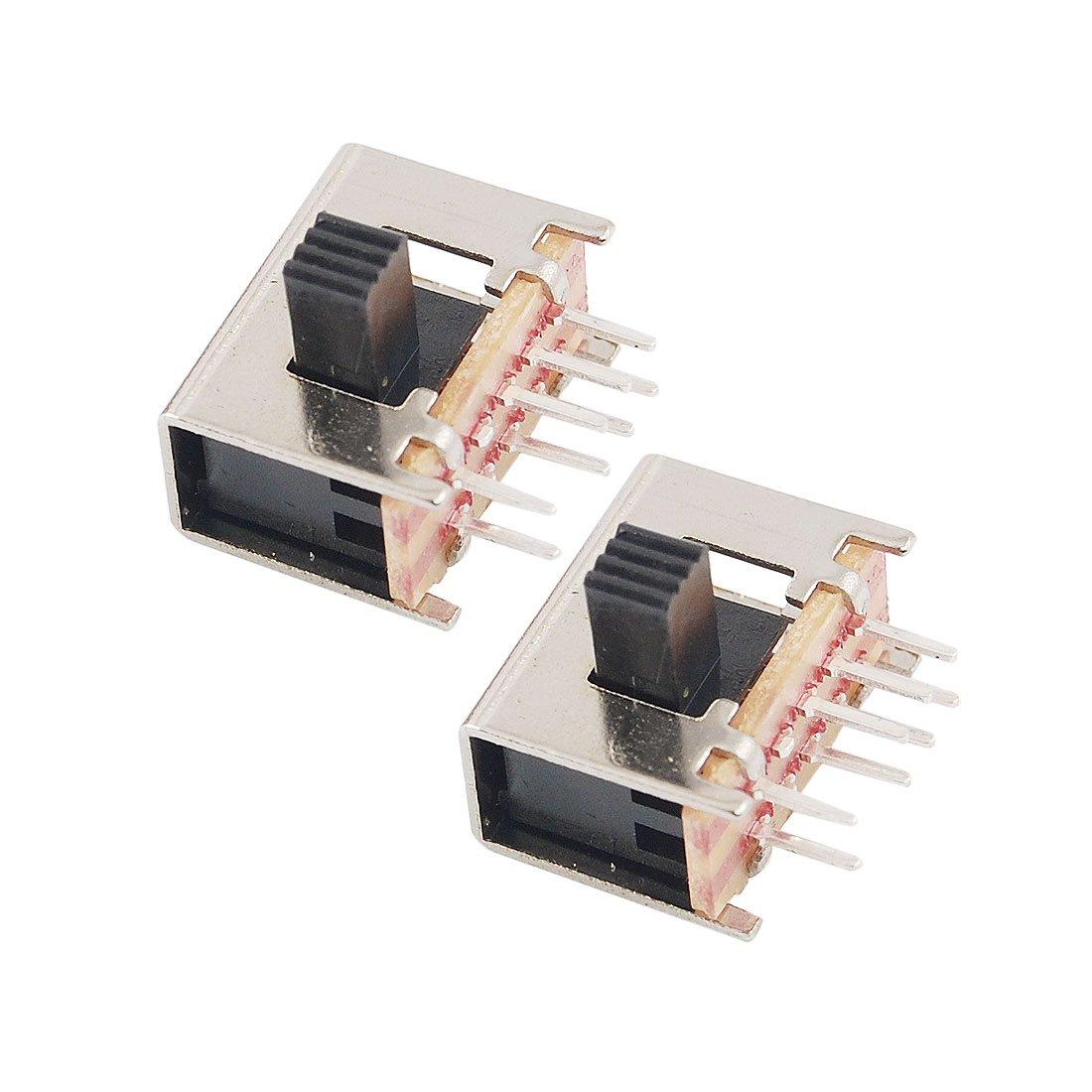 sourcingmap 10 Pcs x On/Off 2 Position DPDT 2P2T PCB Panel Mount Mini Horizontal Slide Switch 8 Pin US-SA-AJD-14701