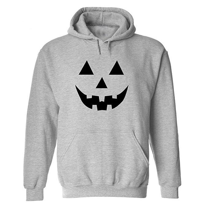 Blusa de manga larga de las mujeres tops, Yannerr ocio moda de Halloween sonrisa de