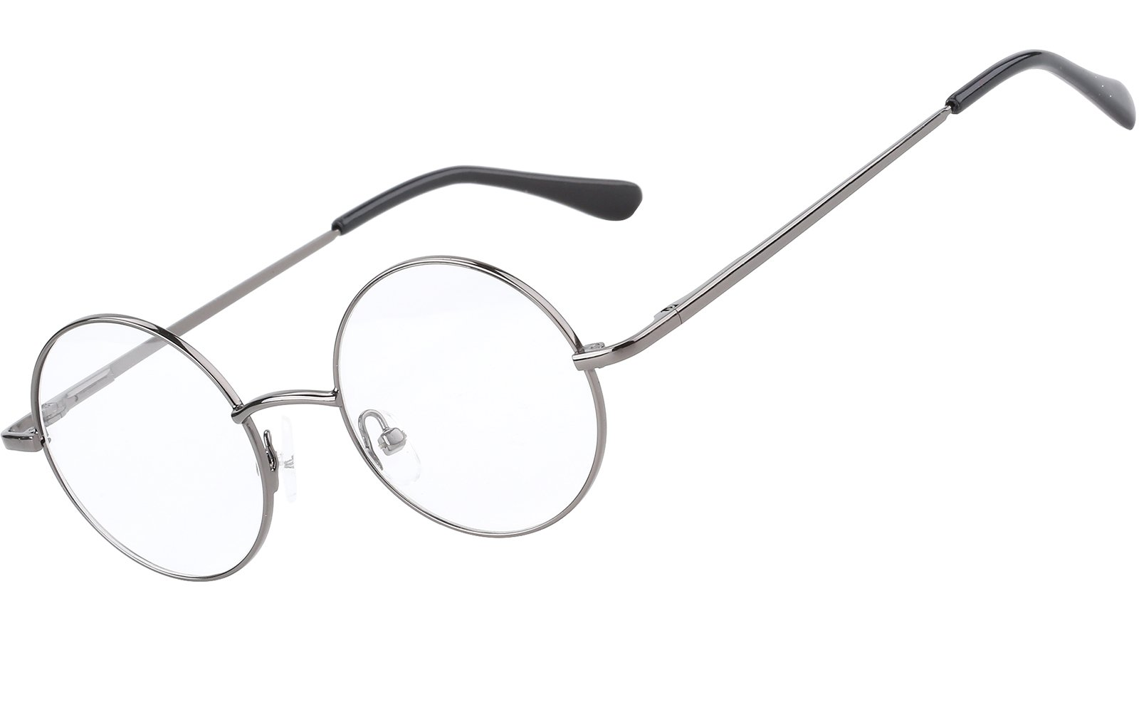 Agstum Retro Round Prescription ready Metal Eyeglass Frame (Small Size) (Grey) by Agstum