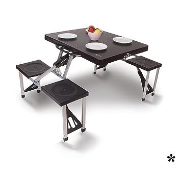 Picknick Tisch mit 4 integrierten Sitzen aus leichtem