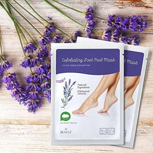 2 Pairs Exfoliating Foot Peel Mask Exfoliant for Soft Feet in 1-2 Weeks, Peeling Off Calluses & Dead Skin, For Men & Women (Lavender)