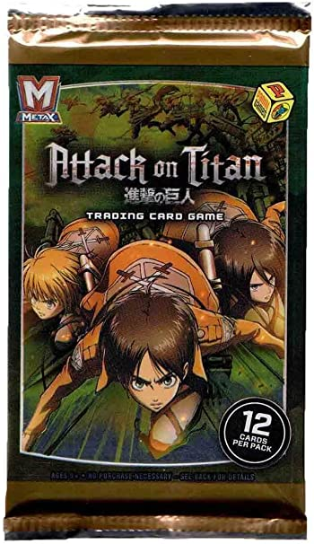 Panini Games 2018 Metax Attack On Titan Trading Card Game Booster Pack Computers Accessories
