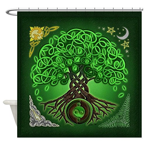 (CafePress Circle Celtic Tree Of Life Decorative Fabric Shower Curtain (69