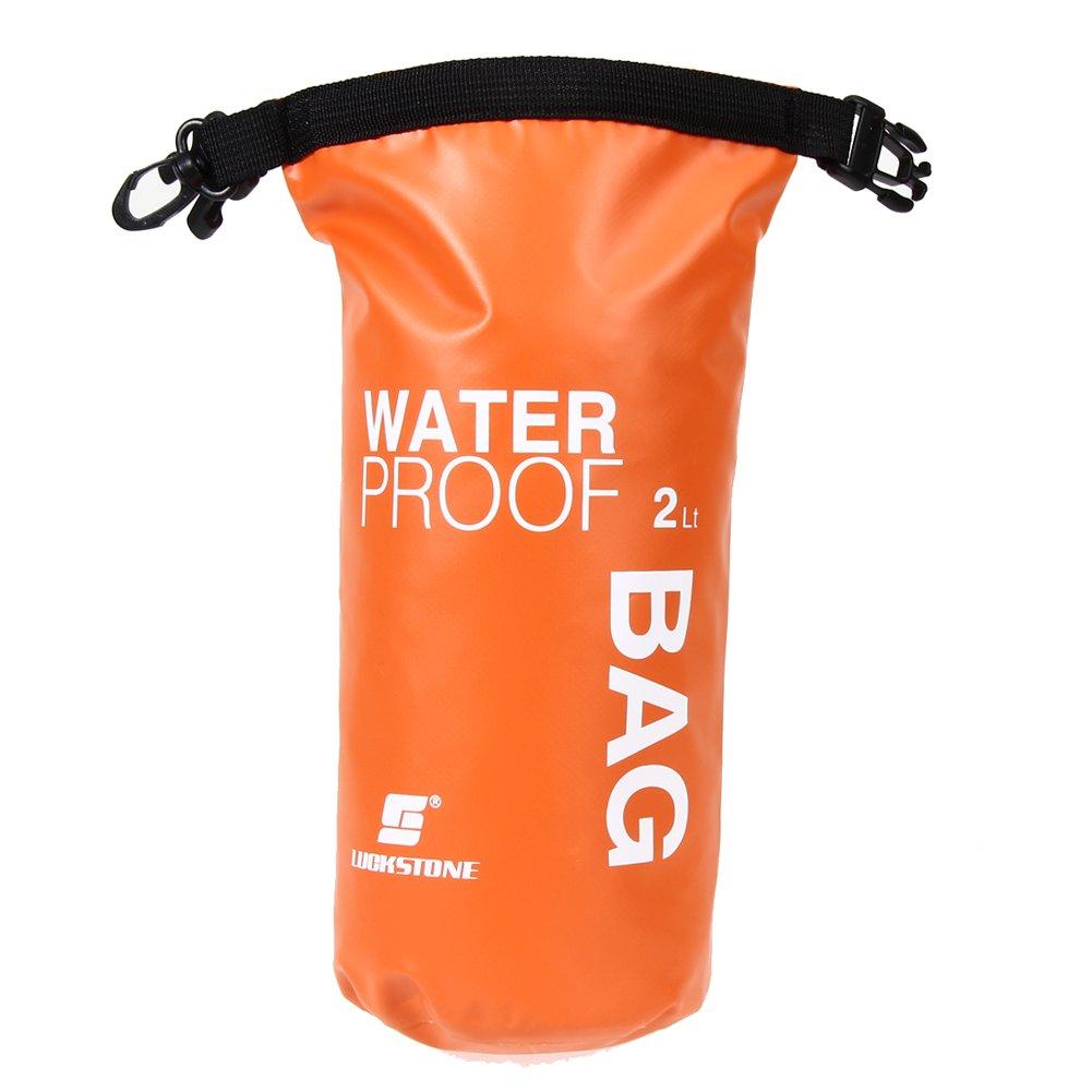 Easydeal 2lスポーツ防水Questドライバッグバックパックforフローティングボートカヤックキャンプ B01LQ1I166 オレンジ オレンジ