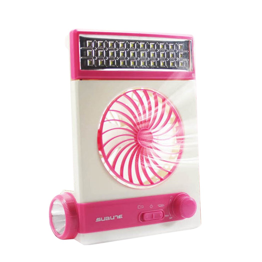XWB Multifunctional LED Desk Light Mini Fan USB Solar Charger Outdoor Camp Light