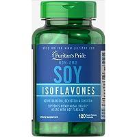 Puritans Pride Non-GMO Soy Isoflavones 750 Mg Rapid Release Capsules, 120 Count