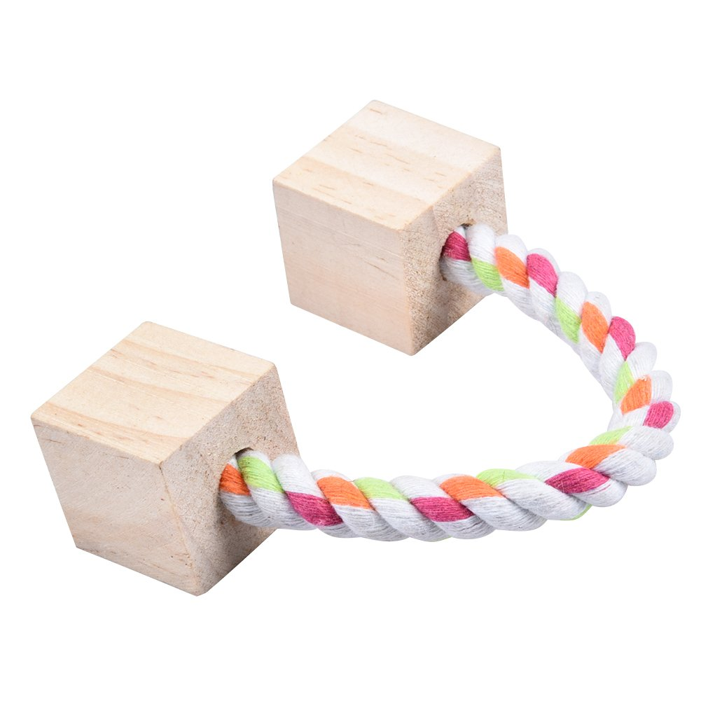 G awhao Natural Wooden Chew Toys For Hamster Rabbits Rat Small Animal Wooden Playing Swing