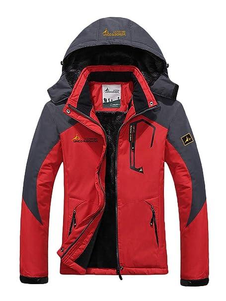 Minetom Chaqueta Softshell Hombre Mujer Chaquetas 3 en 1 Montaña de Invierno Abrigo Impermeable Chaqueta de