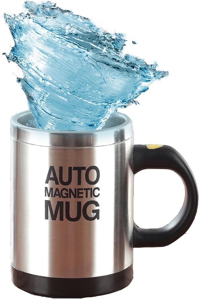 MS-A004M Black Mengshen Tazza Automescolante//Caffe Cup//Automatica Magnetica Mug Miscelazione in Acciaio Inossidabile Elettrico per Il Trasporto di Mattoni per Viaggiare Mattina Ufficio
