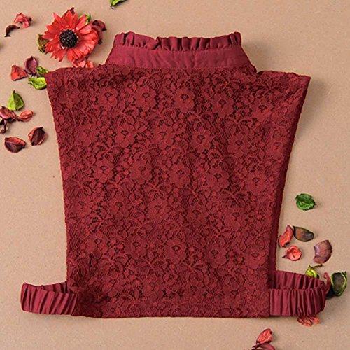 Cuello Medio Vin De Rouge Falso La Falda Camisa Collar YBxCgB4rq